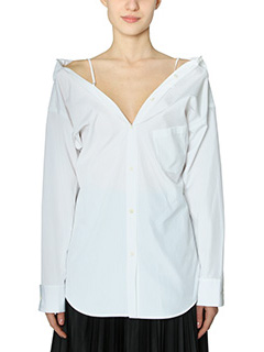 Theory-Camicia Tamalee  in cotone bianco