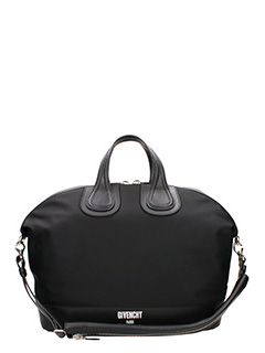 Givenchy-Borsa Nightingale in pelle e tessuto nero
