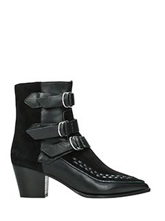 Isabel Marant-Tronchetti Dickey Boots  in suede e pelle nera