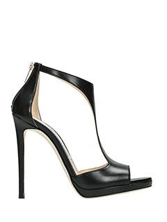 Jimmy Choo-Lana 120 black leather sandals
