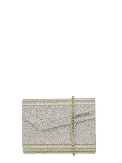 Jimmy Choo-Candy gold PVC clutch