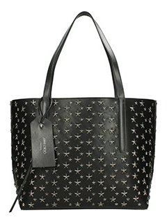 Jimmy Choo-Borsa Twist East west in pelle nera antracite