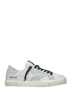 Golden Goose Deluxe Brand-Sneakers May in pelle bianca
