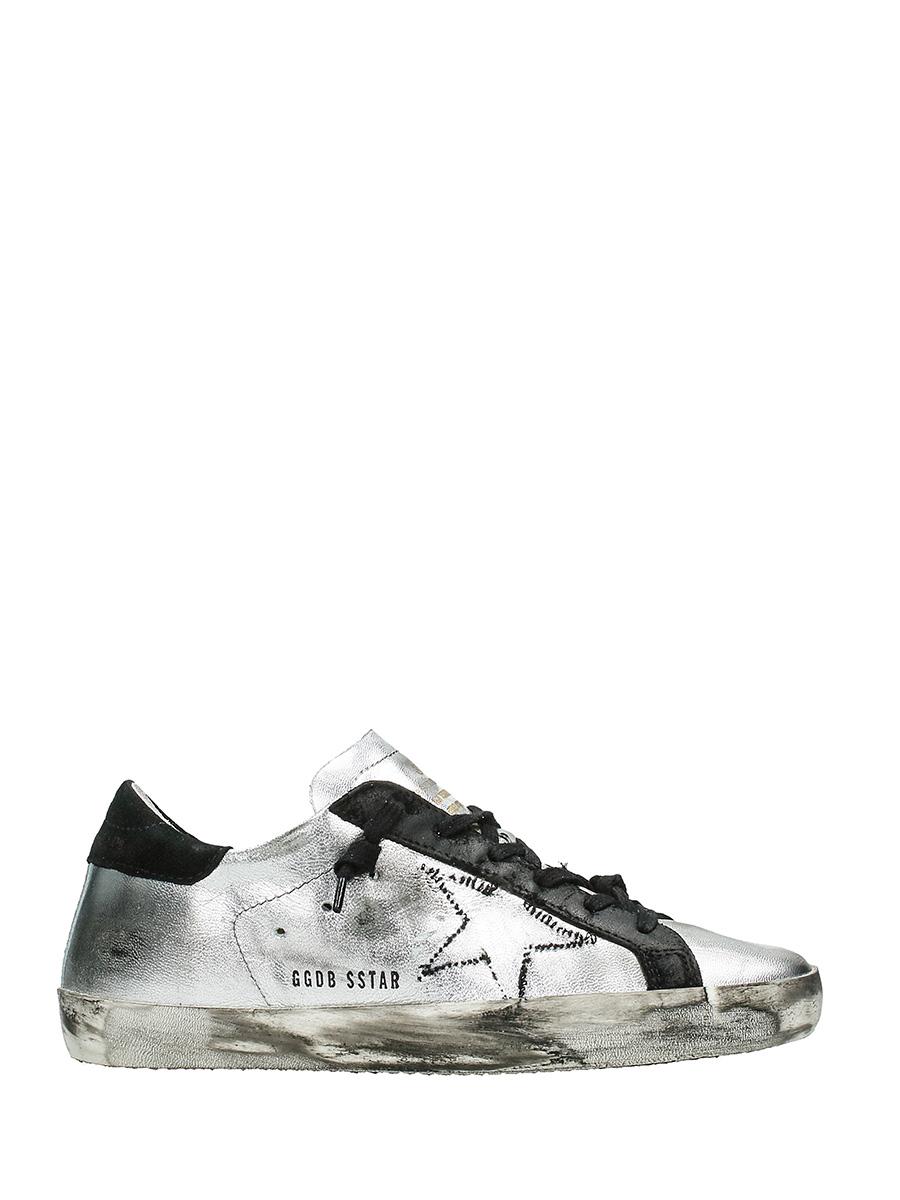 Golden Goose Sneakers Argento
