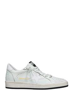 Golden Goose Deluxe Brand-Sneakers Ball Star in pelle bianca