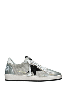 Golden Goose Deluxe Brand-Sneakers Ball Star in pelle argento