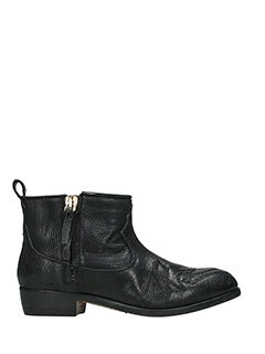 Golden Goose Deluxe Brand-Zanja black leather ankle boots