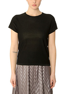 Golden Goose Deluxe Brand-Round Neck Star black viscose t-shirt