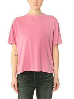 Golden Goose Deluxe Brand-T-Shirt Indiana in cotone rosa