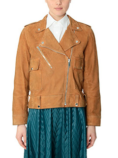 Golden Goose Deluxe Brand-Chiodo Golden leather color leather outerwear