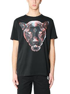 Marcelo Burlon-T-Shirt Rufo in cotone nero