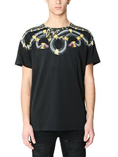 Marcelo Burlon-T-Shirt Sabino in cotone nero