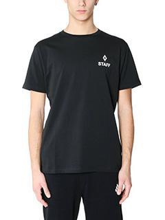 Marcelo Burlon-T-Shirt Paco in cotone nero