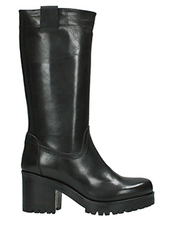 Archyve-black leather boots