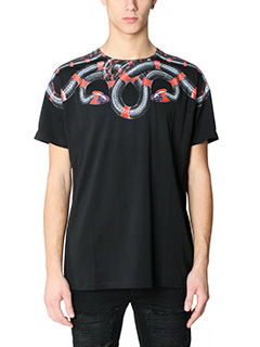Marcelo Burlon-T-Shirt Ruben in cotone nero