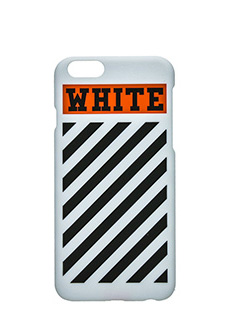 Off White-Cover Case Box Orange Striped I-phone