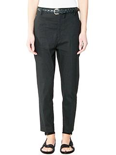 Isabel Marant Etoile-Pantaloni Nydia in cotone nero