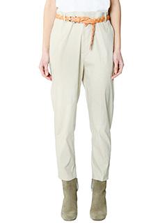Isabel Marant Etoile-Pantaloni Nydia in cotone ecru