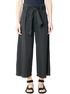Isabel Marant Etoile-Pantaloni Odea in cotone nero
