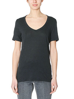 Isabel Marant Etoile-T-Shirt Kid in cotone nero