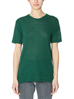 Isabel Marant Etoile-Andreia green cotton t-shirt
