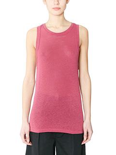 Isabel Marant Etoile-Vegas rose-pink silk topwear