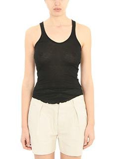 Isabel Marant Etoile-Lyda black cotton topwear