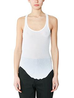 Isabel Marant Etoile-Lyda white cotton topwear