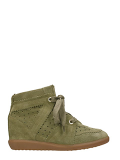 Isabel Marant-Sneakers Bobby in suede taupe