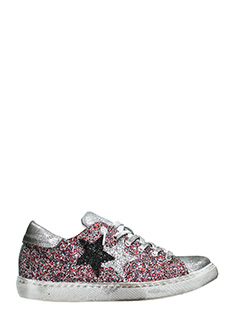 Two Star-Sneakers Low Star  in glitter multicolor