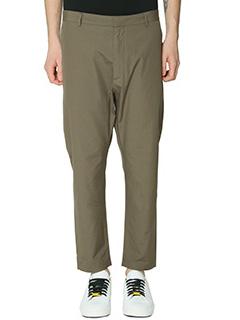 Jil Sander-Pantaloni in cotone mility-tasche