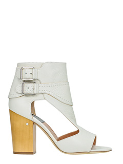 Laurence Dacade-Rusch white leather sandals