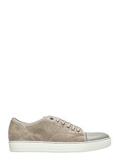 Lanvin-Sneakers in pelle e camoscio beige