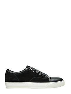 Lanvin-Sneakers in pelle e camoscio nero