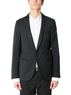 Lanvin-Giacca Slim in cotone nero