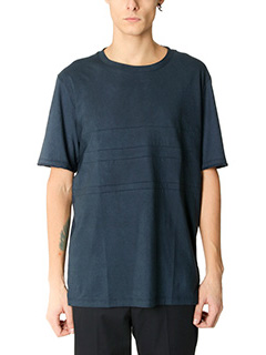 Lanvin-T-Shirt Washed in cotone blue
