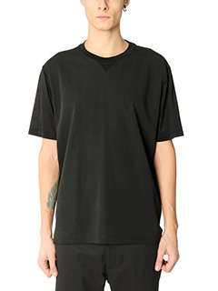 Lanvin-T-Shirt in cr�pe nera