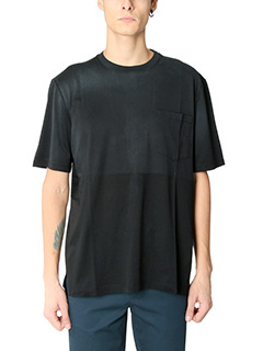 Lanvin-T-Shirt Washed in cotone nero