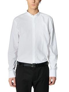 Lanvin-Camicia Smoking in cotone bianco
