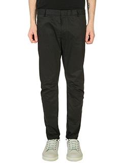 Lanvin-Pantaloni Biker in cotone nero
