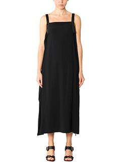 Helmut Lang-black viscose dress
