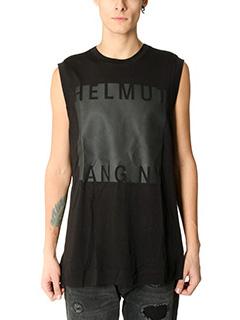 Helmut Lang-Topwear Logo in cotone nero