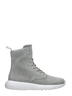 Cu4tro-Sneakers Ninja in suede grigio