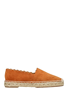Chlo�-leather color suede espadrilles