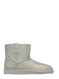 Ugg-Stivali Classic Unlined in pelle metal silver