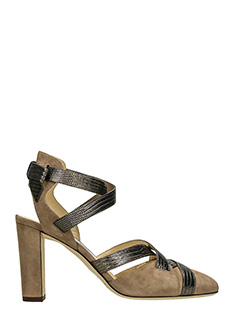 Jimmy Choo-Mercury 85 taupe suede sandals