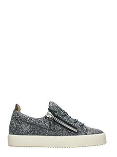 Giuseppe Zanotti-Sneakers Low Glitter antracite