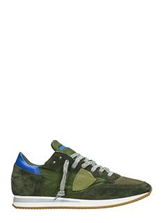 Philippe Model-Sneakers Tropez in camoscio verde