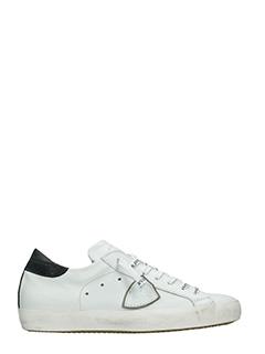 Philippe Model-Sneakers Classic  pelle bianca nera