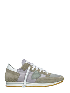 Philippe Model-Sneakers Tropez in camoscio grigio